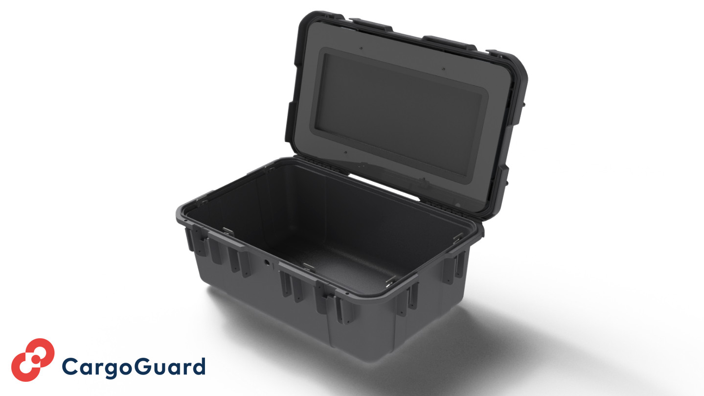 CargoShield: Highly robust plastic cases with integrated intelligent locking mechanism. The multipoint safety latch prevents undesired access.