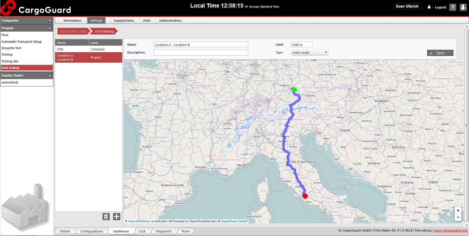Cloud-basierte Sicherheits Monitoring Software | Route